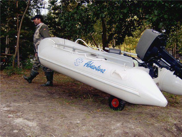 Транцевые колеса для лодки своими руками